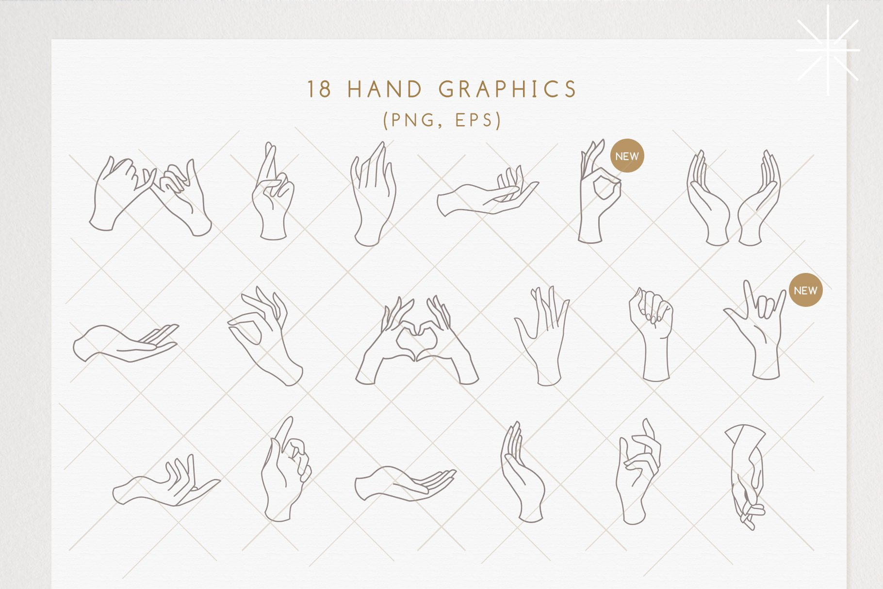 18 Hands & Logo Templates
