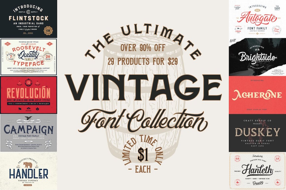 Ultimate Vintage Font Collection