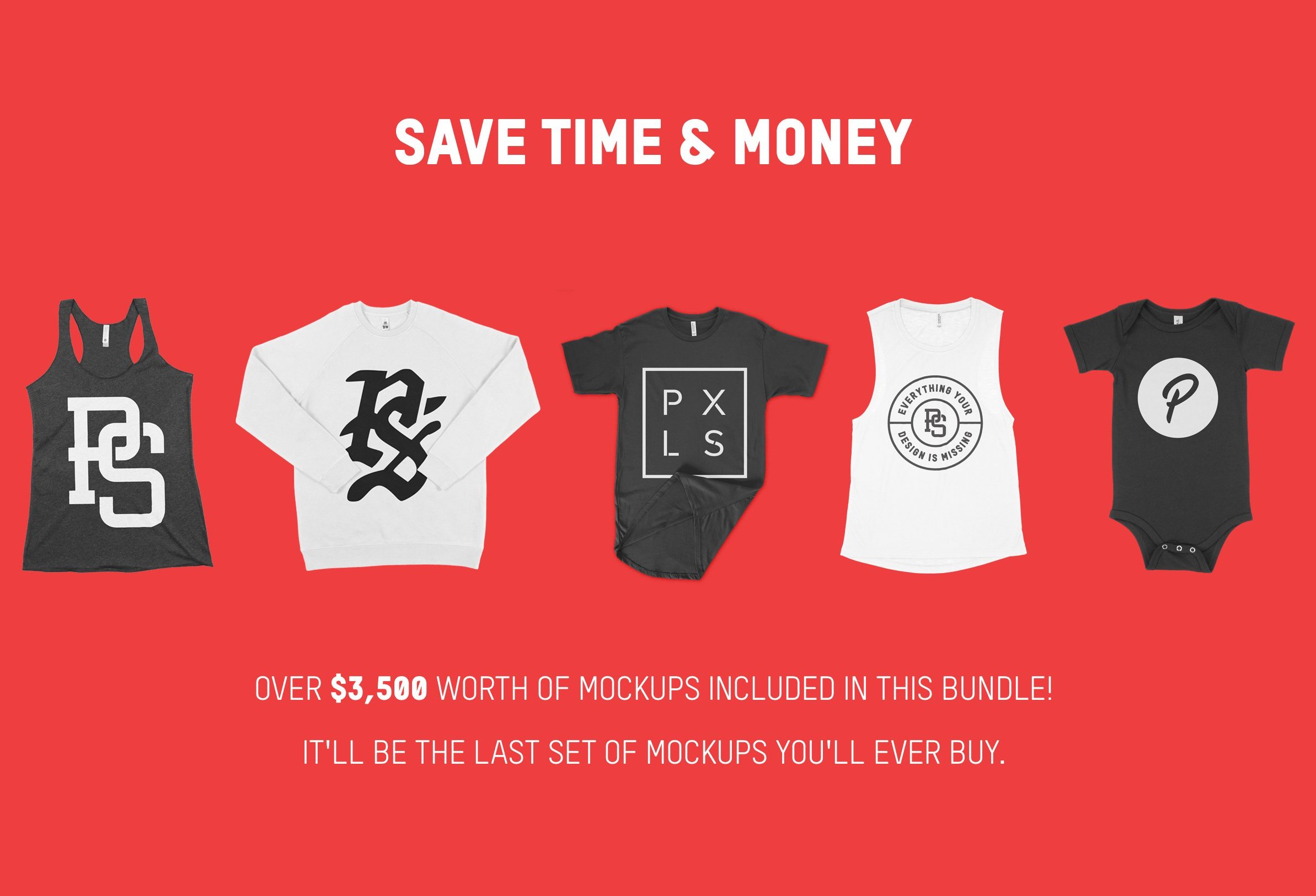 1500+ Apparel Mockups Bundle 1500