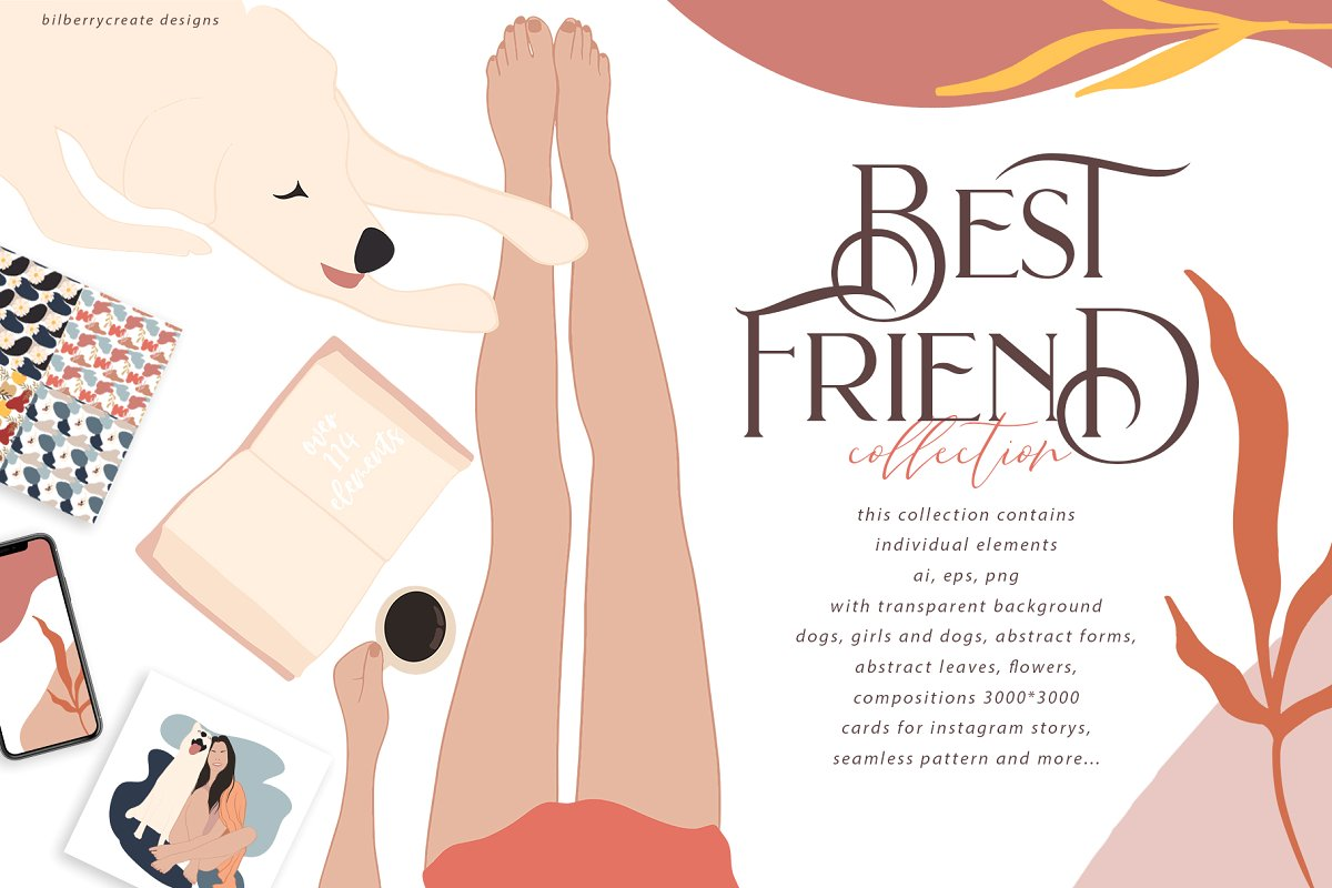 Best Friend Collection – Custom Illustrations