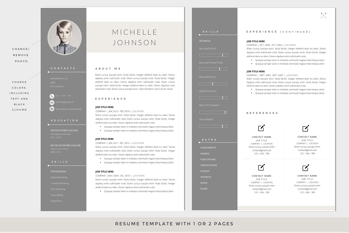 RESUME Template – Cover Letter WORD