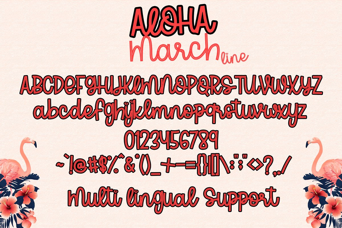 Aloha March Fonts